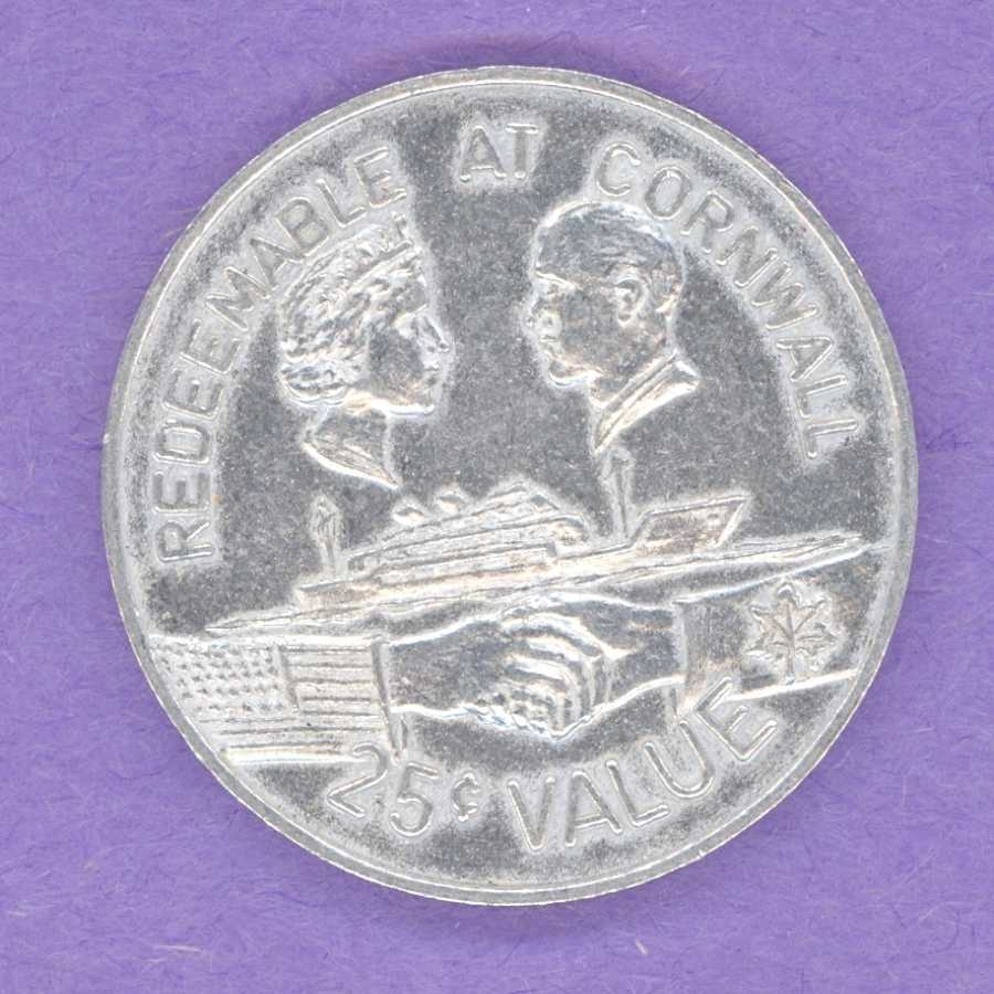 1959 SCARCE Cornwall Ontario Trade Token or Dollar St Lawrence Seaway UP/UP